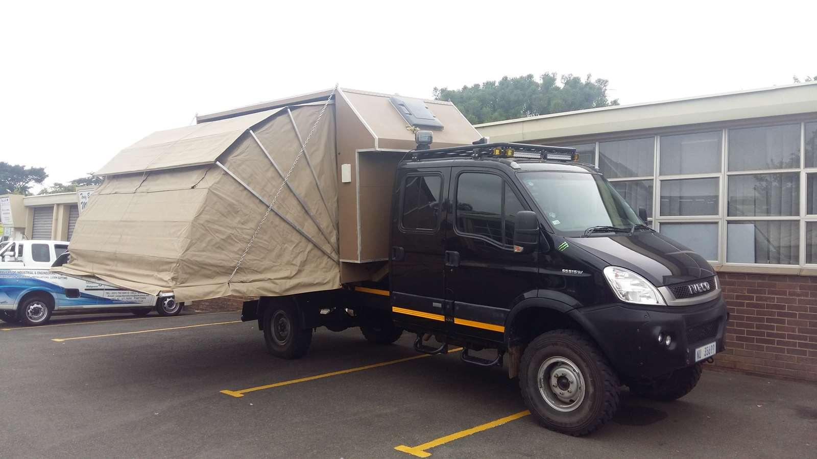 Truck tent canvas